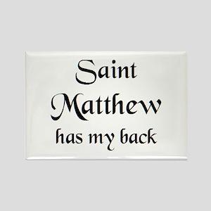 saint matthew Rectangle Magnet