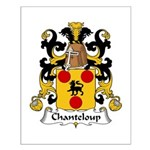 Chanteloup Family Crest Small Poster