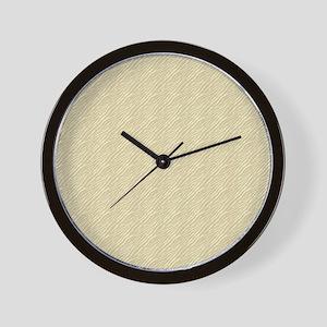 Gold Zebra Print Wall Clock