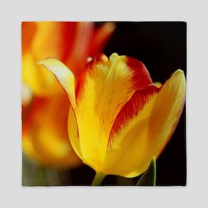 Red Yellow Tulips Queen Duvet