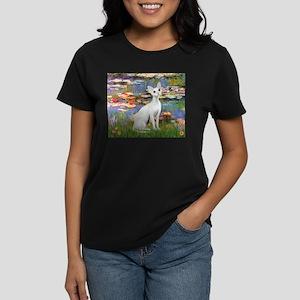 Lilies (#2) & Devonshire Rex Women's Dark T-Shirt