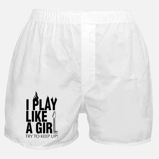 i play like a girl try to keep up (Gu Boxer Shorts