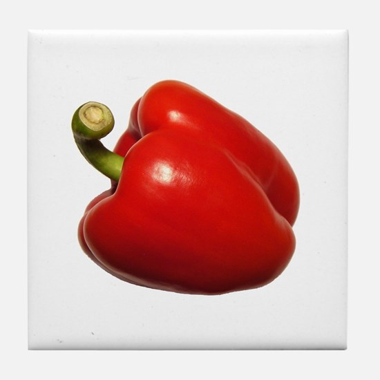 Red Bell Pepper Art Tile