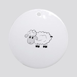 Sheep Ornament (Round)