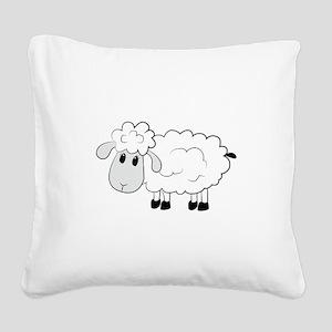 Sheep Square Canvas Pillow