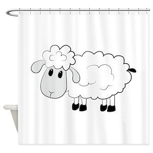 Black Sheep Shower Curtains