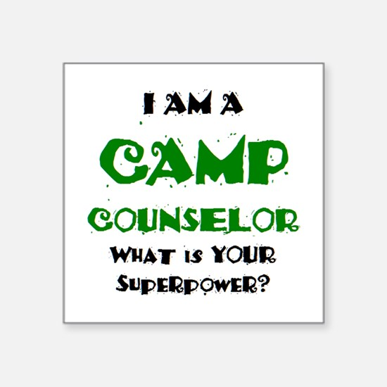 "camp counselor Square Sticker 3"" x 3"""