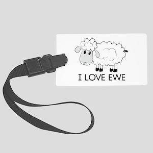 I Love Ewe Luggage Tag