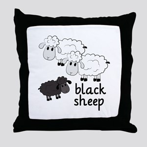 Black Sheep Throw Pillow