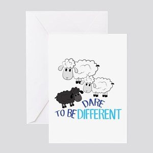 Be Different Greeting Cards