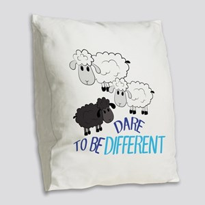 Be Different Burlap Throw Pillow