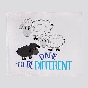 Be Different Throw Blanket