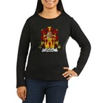 Chabot Family Crest Women's Long Sleeve Dark T-Shi