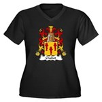 Chabot Family Crest Women's Plus Size V-Neck Dark