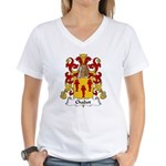 Chabot Family Crest Women's V-Neck T-Shirt