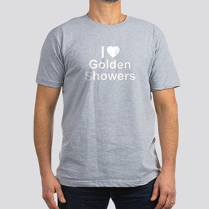 Golden Showers Men's Fitted T-Shirt (dark)