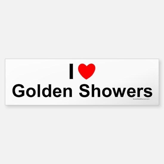 Golden Showers Sticker (Bumper)