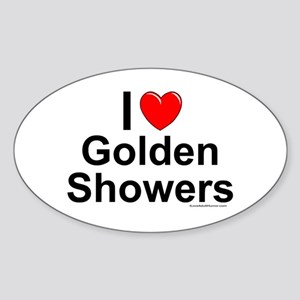 Golden Showers Sticker (Oval)