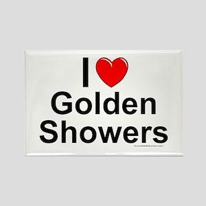 Golden Showers Rectangle Magnet