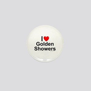 Golden Showers Mini Button
