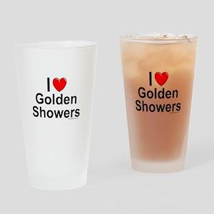 Golden Showers Drinking Glass