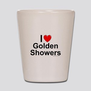 Golden Showers Shot Glass