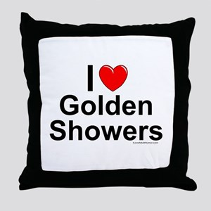 Golden Showers Throw Pillow