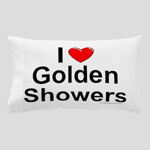 Golden Showers Pillow Case