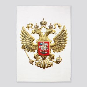 Russian Federation Coat of Arms 5'x7'Area Rug