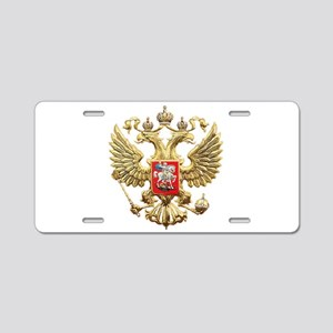 Russian Federation Coat of Aluminum License Plate