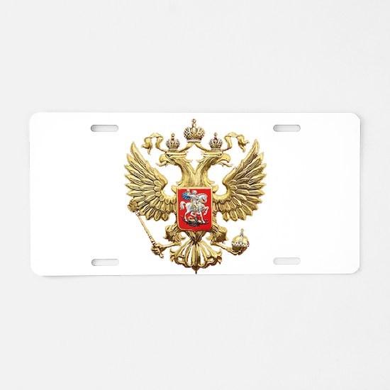 Russian Federation Coat of Aluminum License Plate