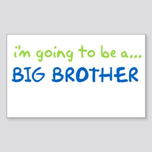 i know something big brother Rectangle Sticker