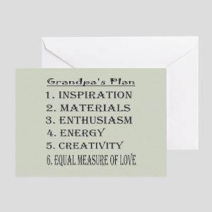 Grandpa's Plan Card Greeting Cards