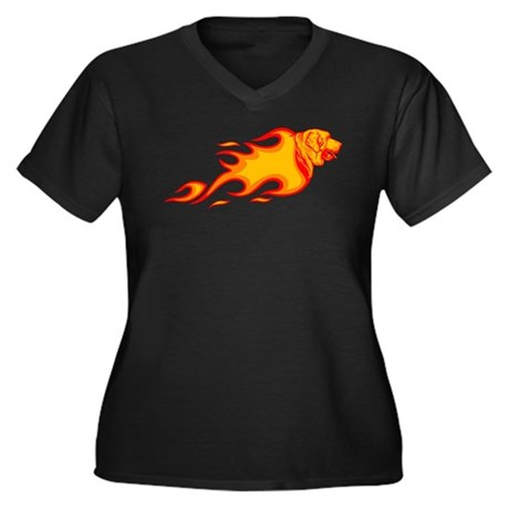 Spanish Mastiff Women's Plus Size V-Neck Dark T-Sh