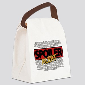 Spoiler Alert Canvas Lunch Bag
