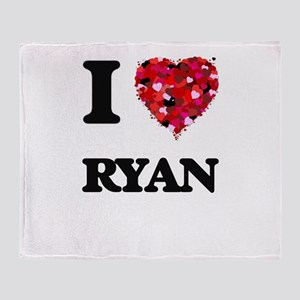 I Love Ryan Throw Blanket