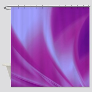 Veils of Purple Fractal Shower Curtain