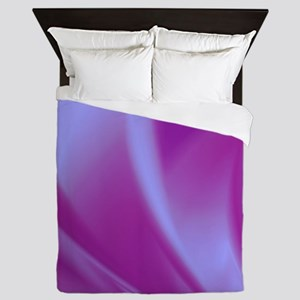 Veils of Purple Fractal Queen Duvet