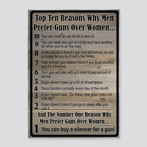 Men Prefer Guns 5'x7'area Rug