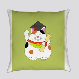 Graduation Maneki Neko Everyday Pillow