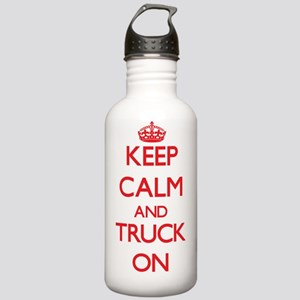 Keep Calm and Truck ON Stainless Water Bottle 1.0L