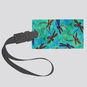 Dragonfly Dance Large Luggage Tag