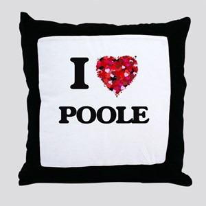 I Love Poole Throw Pillow
