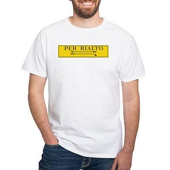 Per Rialto, Venice, Italy White T-Shirt