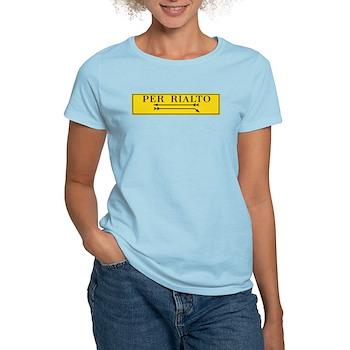 Per Rialto, Venice, Italy Women's Light T-Shirt