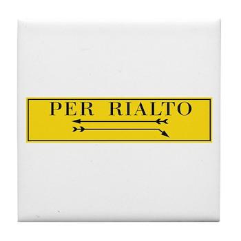 Per Rialto, Venice, Italy Tile Coaster
