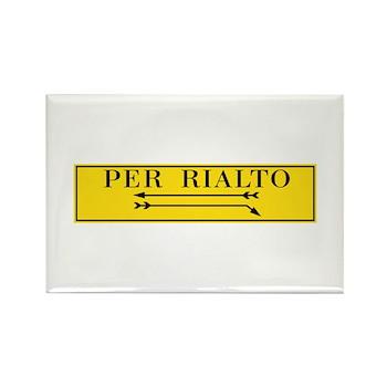 Per Rialto, Venice, It Rectangle Magnet (100 pack)