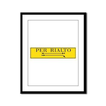 Per Rialto, Venice, Italy Framed Panel Print