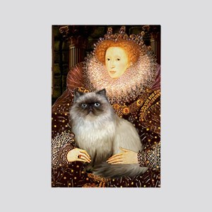 Queen & Himalayan cat Rectangle Magnet