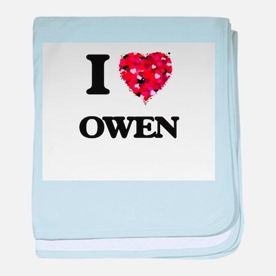 I Love Owen baby blanket